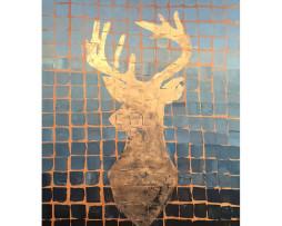 Bild 'Hirsch Copper Blaugrau'