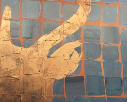 Bild 'Hirsch Copper Blaugrau' - Detailansicht 1