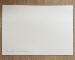 Postkarte 'Hase' - Rückseite