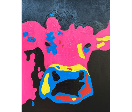 Bild 'Pop-Art-Kuh schwarz'