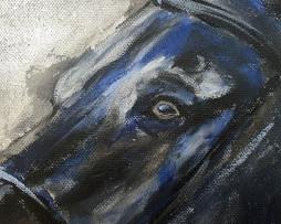 Bild 'Islandpferd auf Silber' - Detailansicht 1