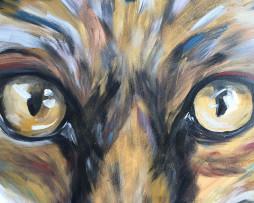 Bild 'Fuchs in Federboa' - Detailansicht 1