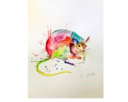 Die Ratte Aquarell