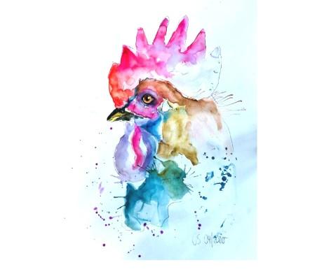 Hahnenkopf Aquarell