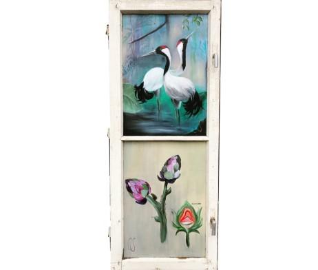 Fenster Kraniche und Artischocke